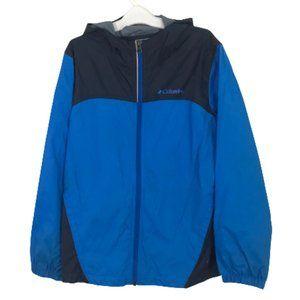 Columbia Youth Windbreaker Jacket Blue Full Zip M